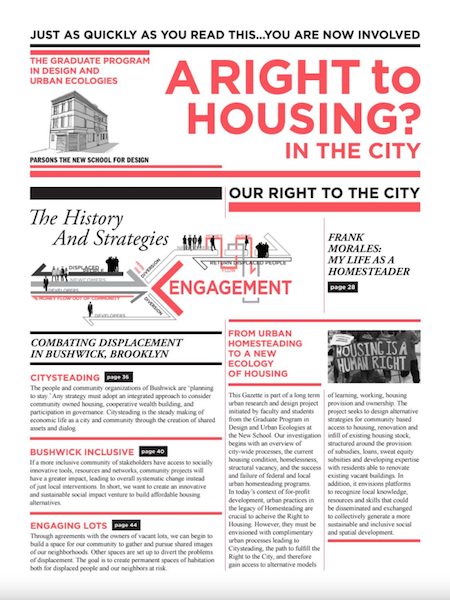 A Right to Housing Gazette 2013 Volume 1 Photo